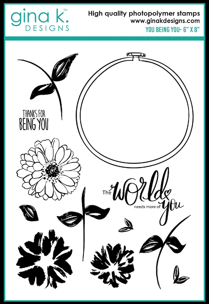 Gina K Designs YOU BEING YOU Clear Stamps 0497 zoom image