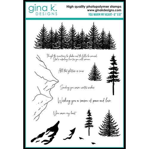 Gina K Designs YOU WARM MY HEART Clear Stamps 0473 Preview Image