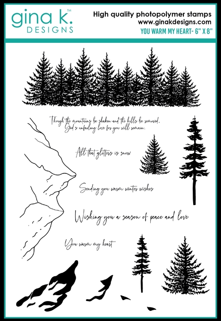 Gina K Designs YOU WARM MY HEART Clear Stamps 0473 zoom image