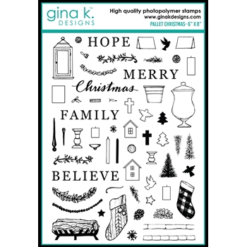 Gina K Designs PALLET CHRISTMAS Clear Stamps 0480