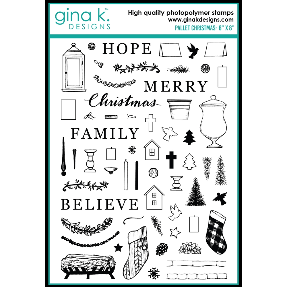 Gina K Designs PALLET CHRISTMAS Clear Stamps 0480 zoom image