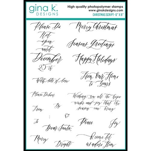 Gina K Designs CHRISTMAS SCRIPT Clear Stamps 0503 Preview Image