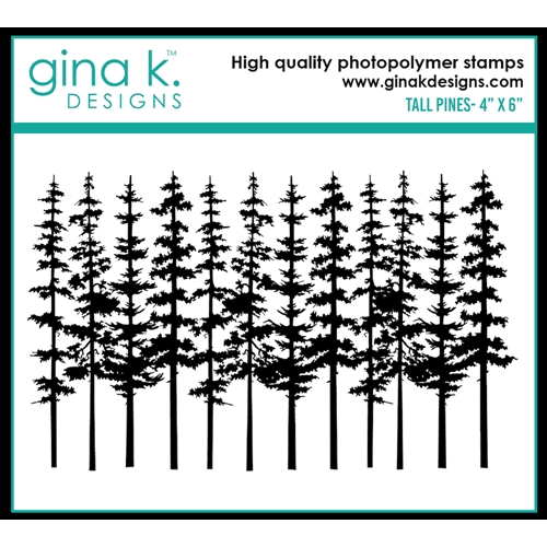 Gina K Designs TALL PINE Clear Stamp 0510 Preview Image