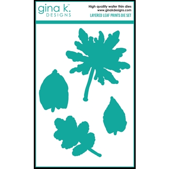 Gina K Designs LAYERED LEAF PRINTS Die Set 0633
