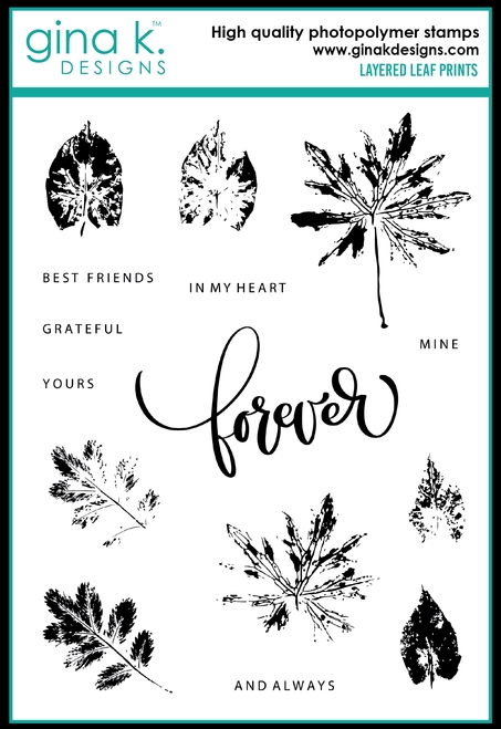 Gina K Designs LAYERED LEAF PRINTS Clear Stamps 0657 zoom image