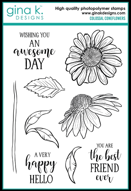 Gina K Designs COLOSSAL CONEFLOWERS Clear Stamps 0664 zoom image