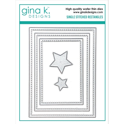Gina K Designs SINGLE STITCH RECTANGLE Die Set 0565 Preview Image