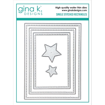 Gina K Designs SINGLE STITCH RECTANGLE Die Set 0565