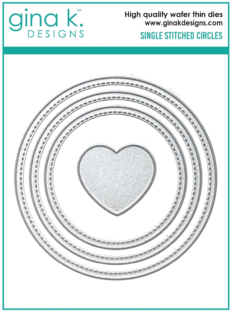Gina K Designs SINGLE STITCH CIRCLE Die Set 0589 zoom image