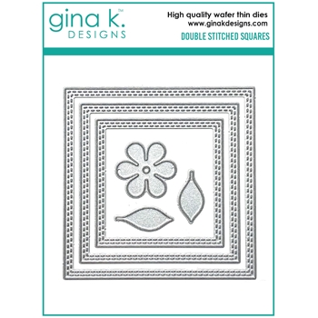 Gina K Designs DOUBLE STITCHED SQUARE Die Set 0596
