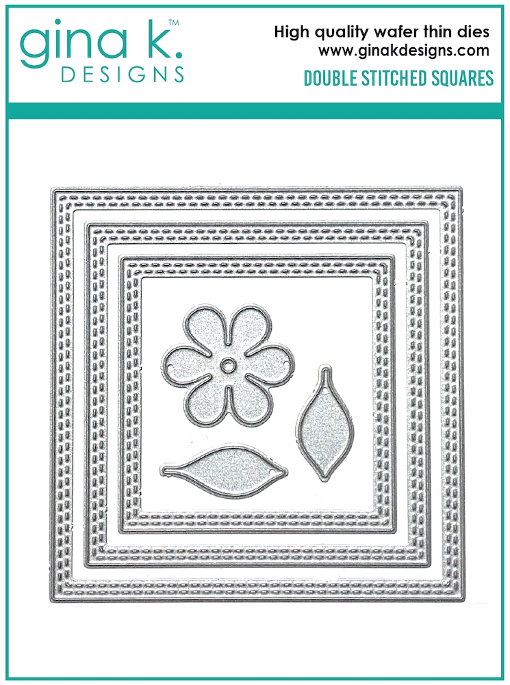 Gina K Designs DOUBLE STITCHED SQUARE Die Set 0596 zoom image