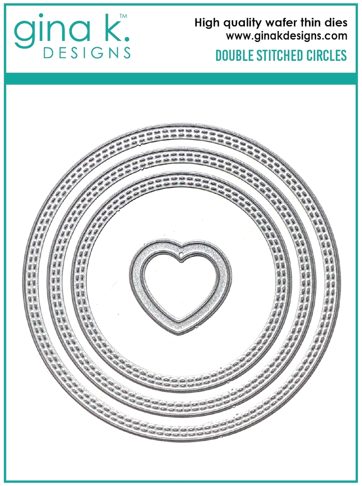 Gina K Designs DOUBLE STITCHED CIRCLE Die Set 0626 zoom image