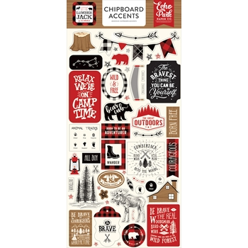Echo Park LITTLE LUMBERJACK Chipboard Accents ll195021