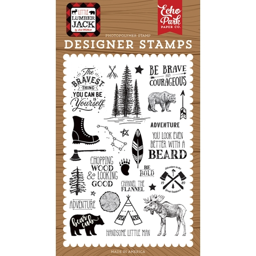 Echo Park BE BRAVE Clear Stamps ll195042 Preview Image