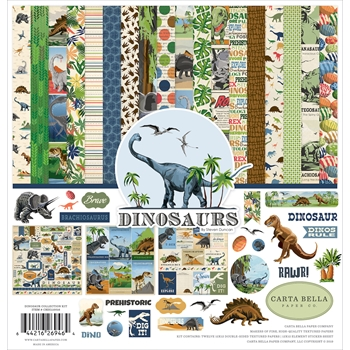 Carta Bella DINOSAURS 12 x 12 Collection Kit cbdi110016