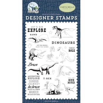Carta Bella DINOS RULE Clear Stamp Set cbdi110040