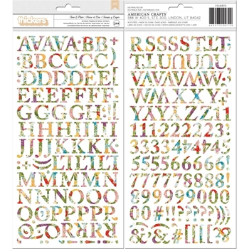 BoBunny TIME AND PLACE Alpha Thickers Stickers 7310972