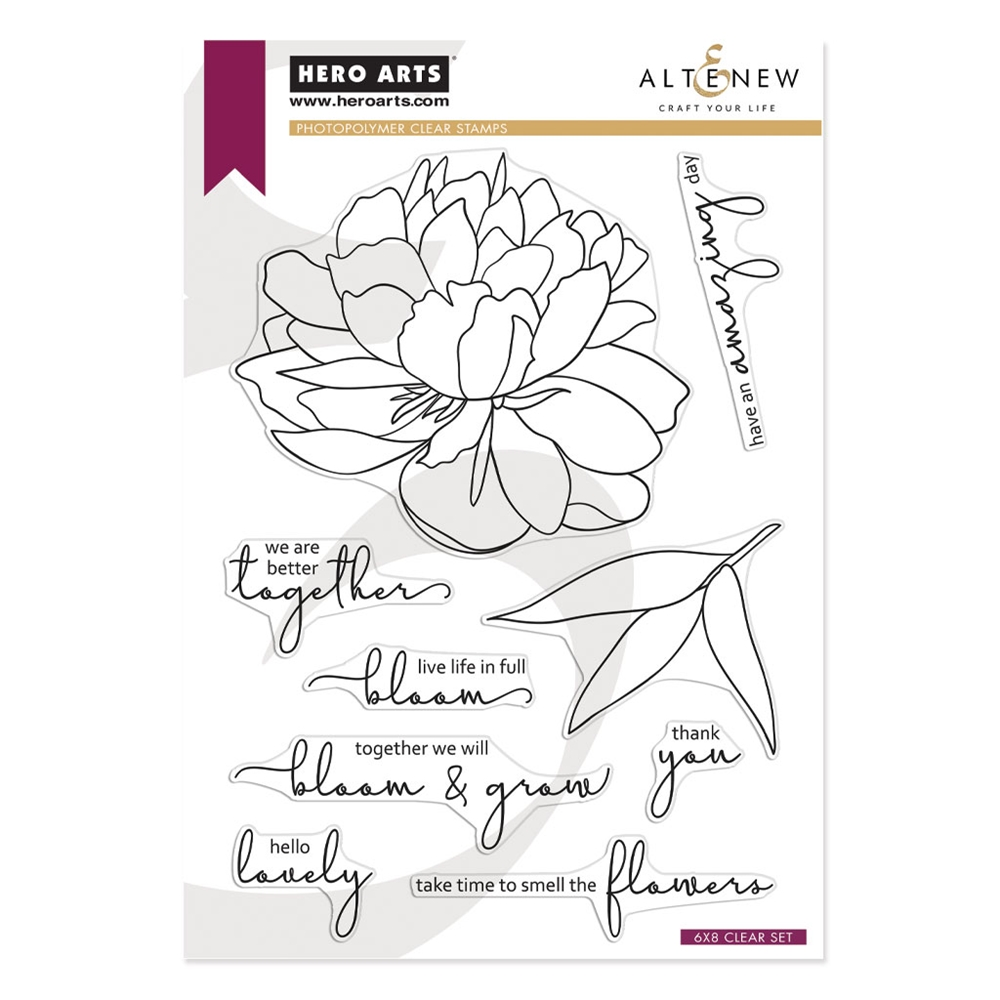 Hero Arts Partnership Clear Stamps Altenew BLOOM AND GROW PR105 zoom image