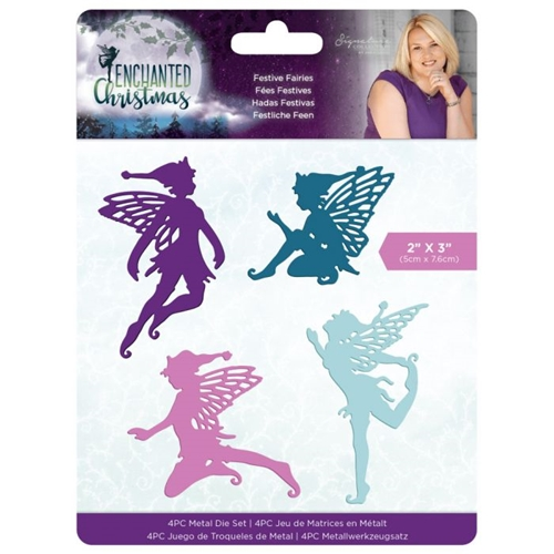 Crafter's Companion FESTIVE FAIRIES Enchanted Christmas Die Set s-ec-md-festf Preview Image