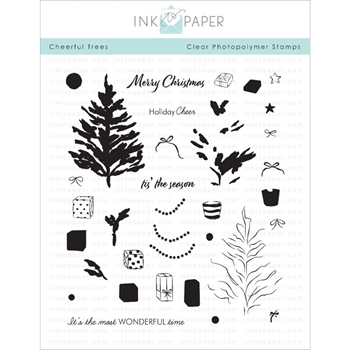 Ink to Paper CHEERFUL TREE Clear Stamps 1108