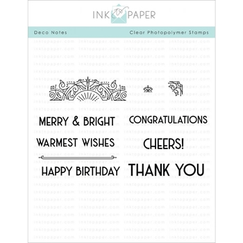 Ink to Paper DECO NOTES Clear Stamps 1112