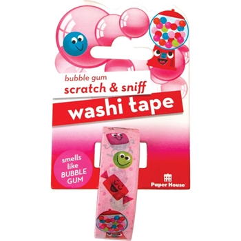 Paper House Scratch and Sniff BUBBLE GUM Washi Tape STWA-1007