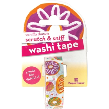 Paper House Scratch and Sniff VANILLA DONUTS Washi Tape STWA-1001