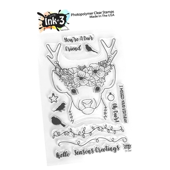 Inkon3 OH DEER Clear Stamp Set 04056