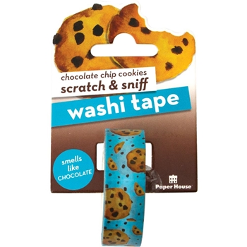 Paper House Scratch and Sniff CHOCOLATE CHIP COOKIES Washi Tape STWA-1006