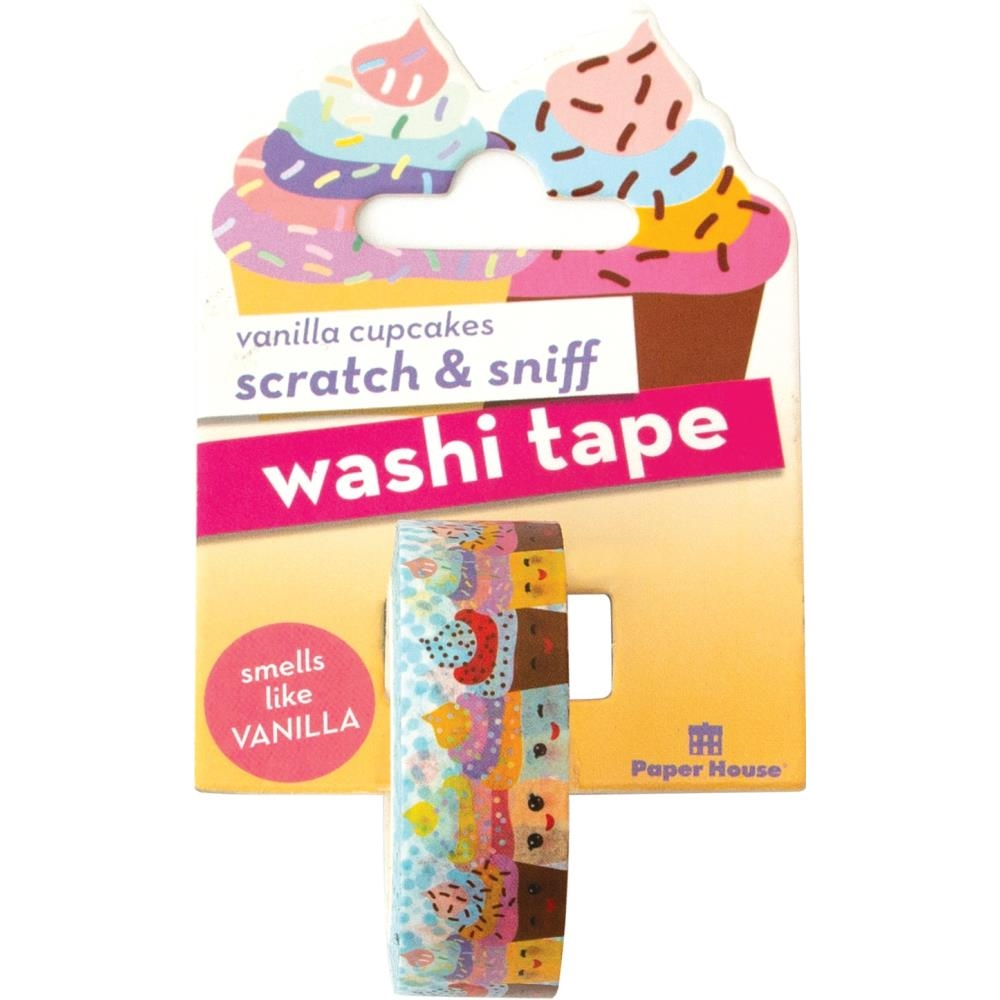 Paper House Scratch and Sniff VANILLA CUPCAKES Washi Tape STWA-1009 zoom image