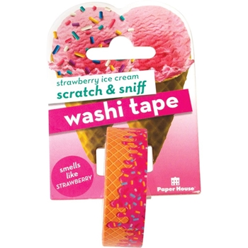 Paper House Scratch and Sniff STRAWBERRY ICE CREAM Washi Tape STWA-1008