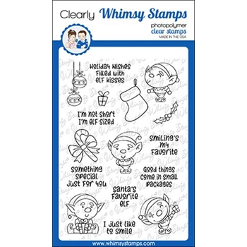 Whimsy Stamps ELF SIZED Clear Stamps CWSD289*