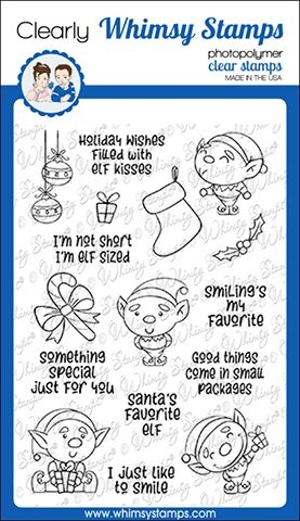 Whimsy Stamps ELF SIZED Clear Stamps CWSD289 zoom image