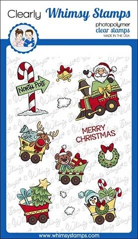 Whimsy Stamps SANTA'S TRAIN Clear Stamps KHB146 zoom image