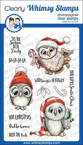 Whimsy Stamps HAPPY OWLIDAYS TOO Clear Stamps C1349 zoom image
