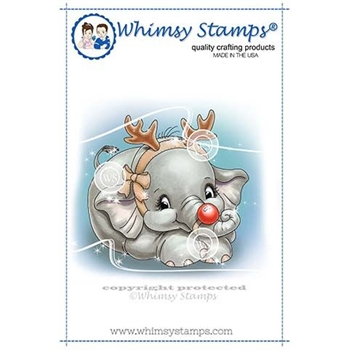 Whimsy Stamps ELLIE THE SPECIAL REINDEER  Rubber Cling Stamp C1348