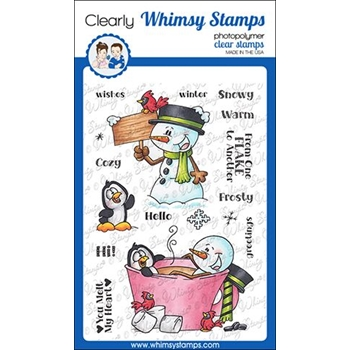 Whimsy Stamps FROSTY WISHES Clear Stamps DP1029