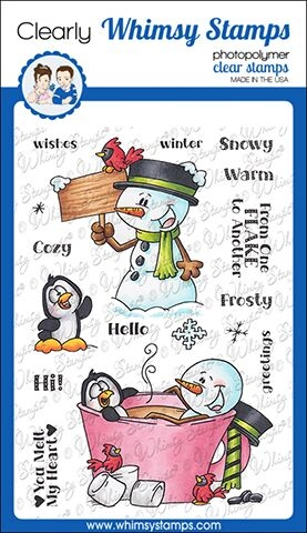 Whimsy Stamps FROSTY WISHES Clear Stamps DP1029 zoom image