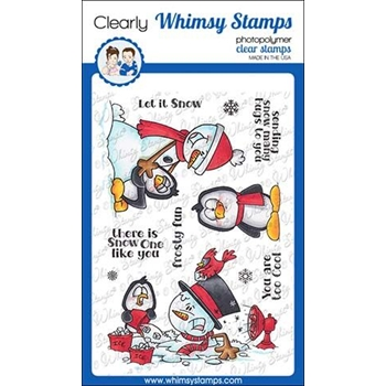 Whimsy Stamps FROSTY HUGS Clear Stamps DP1028