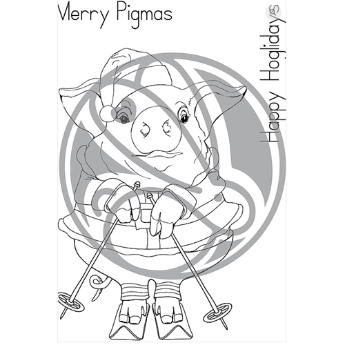 The Rabbit Hole Designs MERRY PIGMAS Clear Stamps TRH-47 Preview Image