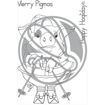 The Rabbit Hole Designs MERRY PIGMAS Clear Stamps TRH-47