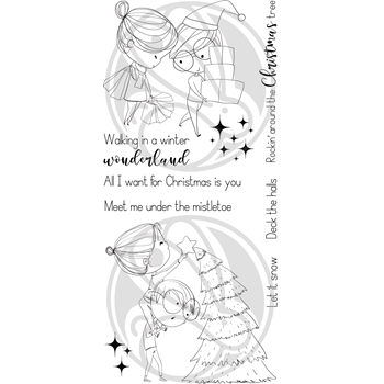 The Rabbit Hole Designs LOVE YOU MORE CHRISTMAS FROST Clear Stamps TRH-43*