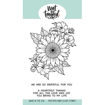 Neat and Tangled HEARTFELT THANKS Clear Stamps NAT491