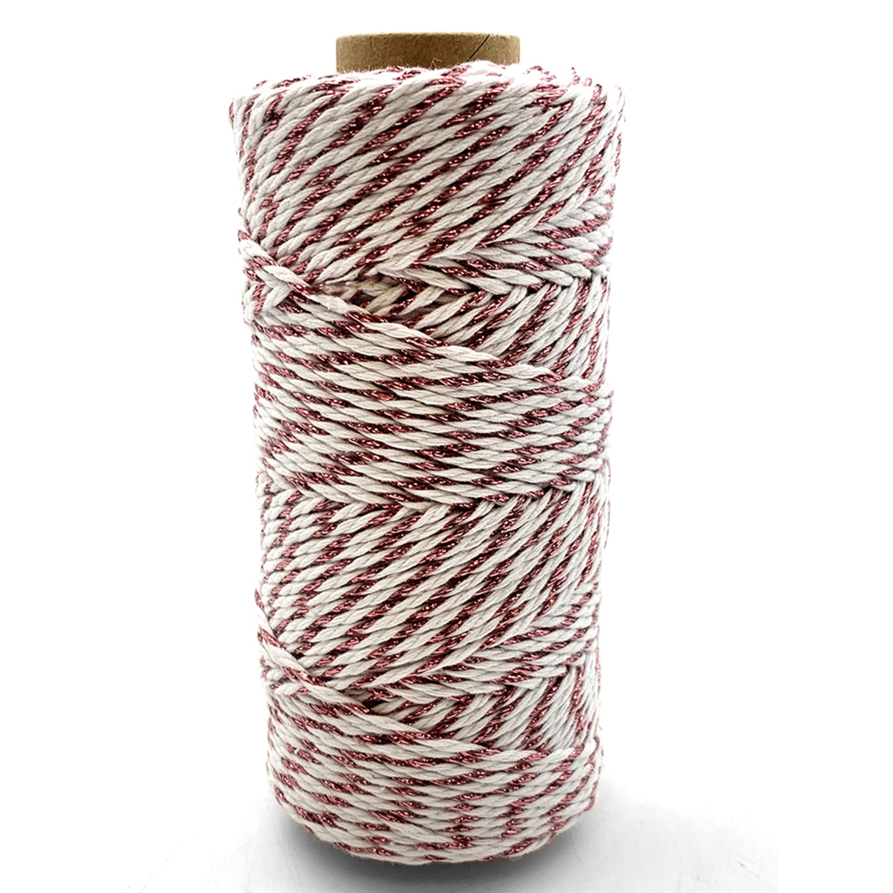 May Arts ROSE GOLD Baker's Twine Twisted Ribbon 41220 zoom image