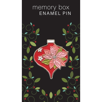 Memory Box POINSETTIA ORNAMENT Enamel Pin ep760