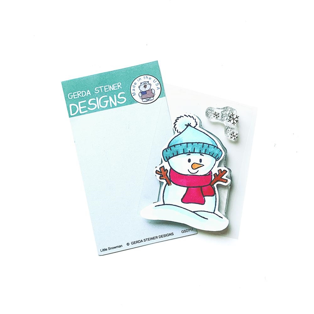 Gerda Steiner Designs LITTLE SNOWMAN Clear Stamp Set gsd711 zoom image