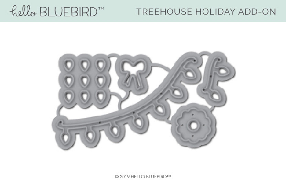 Hello Bluebird TREEHOUSE HOLIDAY ADD-ON Die Set hb2234 zoom image