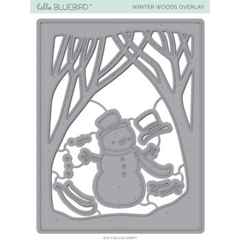 Hello Bluebird WINTER WOODS OVERLAY Die Set hb2236