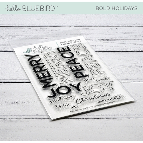 Hello Bluebird BOLD HOLIDAYS Clear Stamps hb2237  Preview Image
