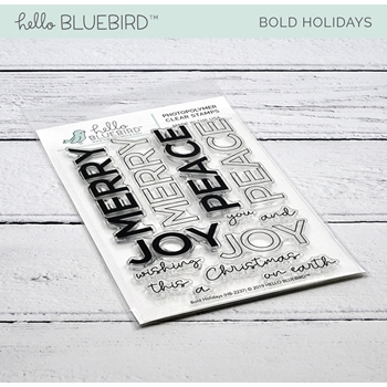 Hello Bluebird BOLD HOLIDAYS Clear Stamps hb2237